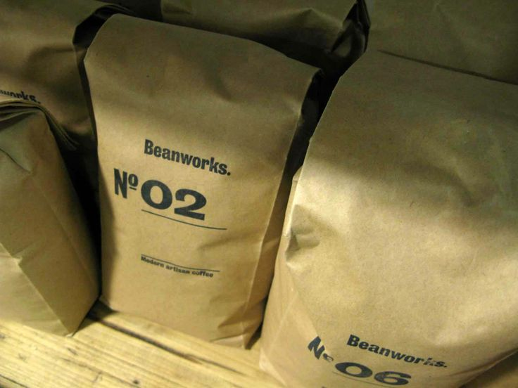 Beanworks coffee packaged inside individually stamped bags