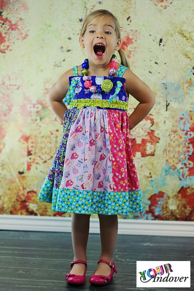 Shannon of Create Kids Couture made this adorable dress using our Owls collection by Makower UK. Like/Repin this post to vote for Shannon.