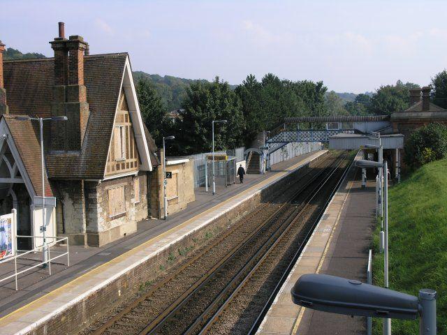 Sanderstead Railway Station (SNR) in Sanderstead Road