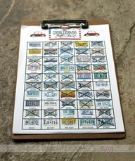 Printable License Plate game and lots of other road trip games for a road trip