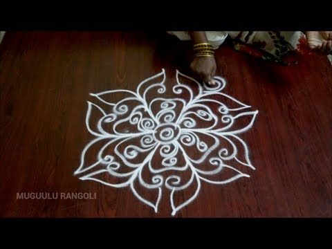 rangoli free hand best free hand rangoli design of rangoli of free hand free hand rangoli patterns - YouTube