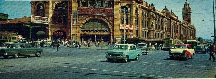 Flinders St & Swanston St- Melbourne 1960's