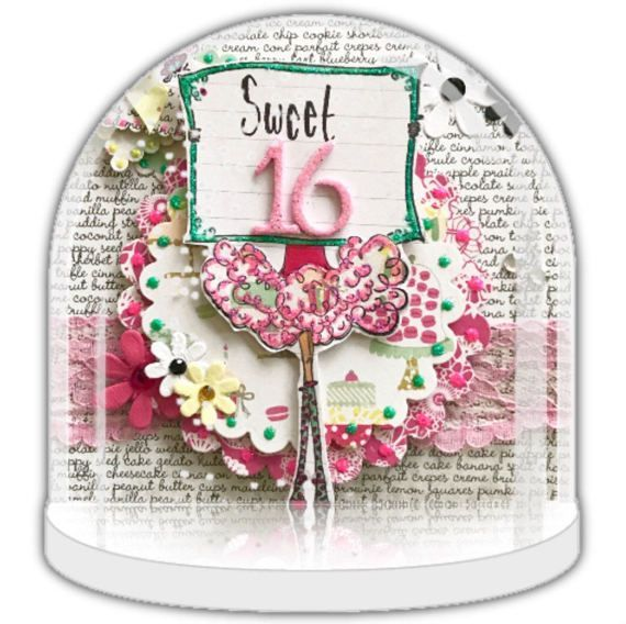 sweet 16th gift, Snow globe, personalised snow globe, 16th birthday gift,  unique party favour, party invite, personalised gift