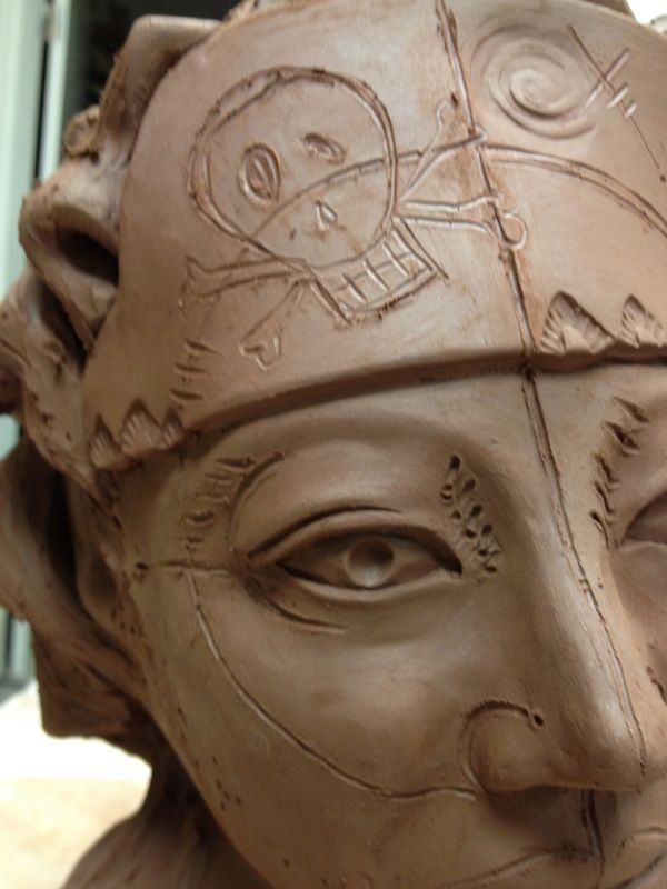 pottery face