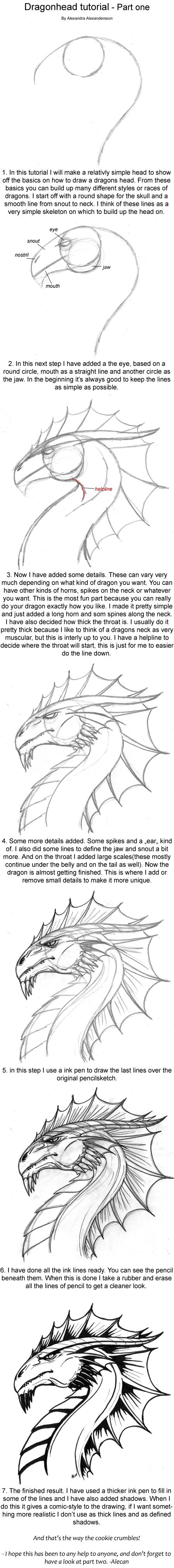 Dragonhead Tutorial Part One By Alecan On Deviantart