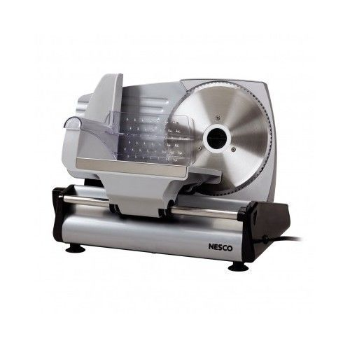 Electric Meat Slicer Cutter Deli Industrial Grade Stainless Steel Blades Cheese #Nesco