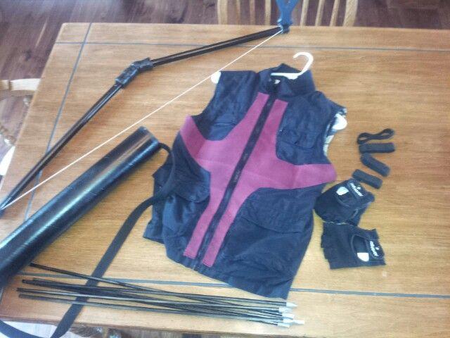 "Logan's ""Hawkeye"" Avengers DIY costume"