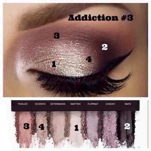 You can never go wrong with a purple eye shadow look, it makes green and hazel eyes pop! ☆Get these colors in our Addiction palette #3♡♡♡♡ www.glamorouslashesbyirene.com