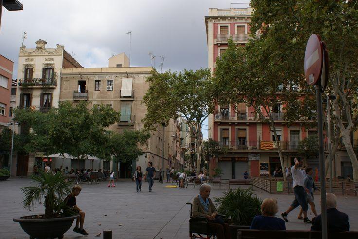 One of many beautiful plazas of Barcelona: La Plaza del Diamant