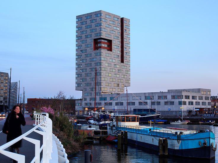 IJ Tower, Amsterdam.    Designed by Neutelings Riedijk Architects.