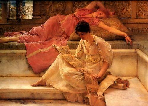 The Favourite Poet Lawrence Alma Tadema