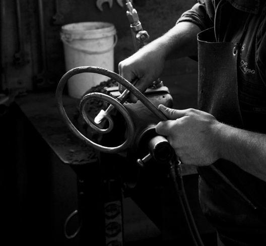 Forging iron...