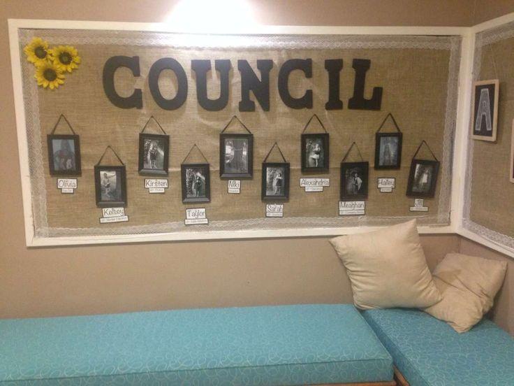 Decorate a council bulletin board