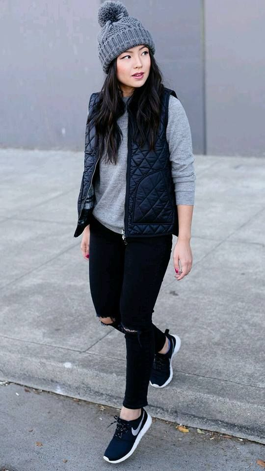 nike negras mujer outfit