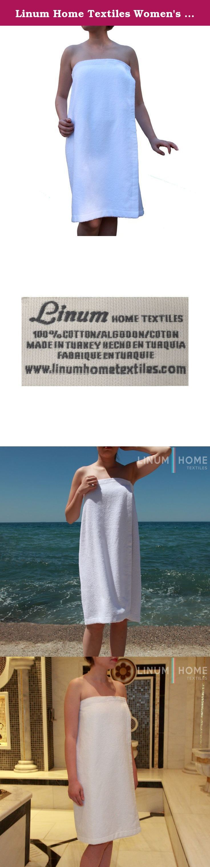 Linum Home Textiles Women's Terry Wrap Bathrobe. Do you love hanging out in your towel post-shower, but maybe need some help mastering the tuck-and-fold trick with a regular towel the Terry body wrap can solve your problem! the same thick, soft 100percent genuine Turkish cotton as our standard towels, but with a handy elastic and hook and loop fastener on the top to keep you covered and comfortable.