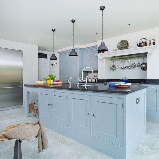 Country Gray Kitchen Cabinets: 1000+ Ideas About Blue Grey Kitchens On Pinterest