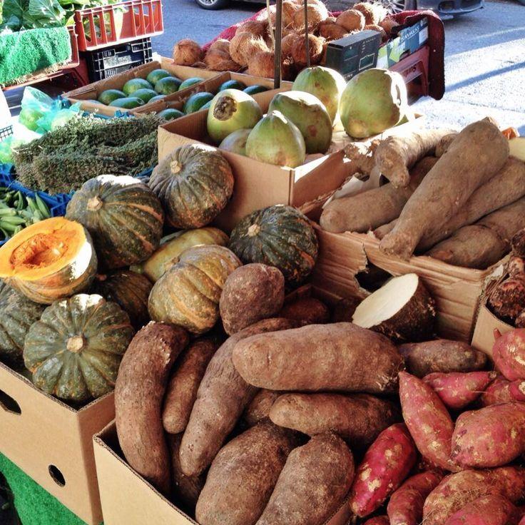 Ben's exotic fruit and veg stall in Golborne Market