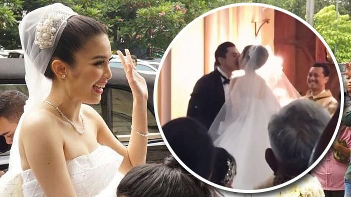 Ini Video Ciuman Bibir Pernikahan Sandra Dewi yang Dibilang Netizen Lama Bener