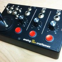 analog craftsman - ARCADE. $370. CV controller with joystick and three trigger buttons. Would love to have a custom one with a mod wheel for the z-axis in Moog Console Panel size to go along with a Moon Modular 525 Reversible Attenuator/Mixer.