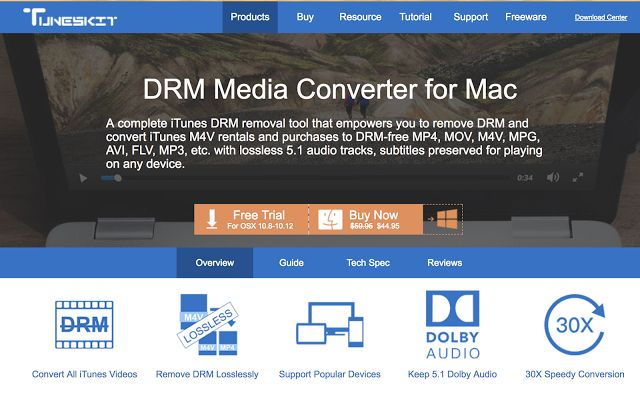 Tuneskit DRM Media Converter Software for Mac : Exclusive Review  Developed by Ryuichi Moriya a Japanese engineer in 1983 the main focus of DRM or Digital Rights Management is to restrict access to digital contents whether it is for viewing or copying. However there is a solution to this issue in public domain in form of Tuneskit DRM Media Converter for Mac.  The main functions of this software tool include removing DRM from Apple iBook ePub files copy DRM iBooks to DRM free ePub files…