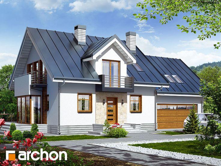 projekty domů, Dům mezi rododendrony 6 (G2N) - ARCHON+ Projekční kanceláře - archonplus.cz - Prodej hotových projektů, projekty domů