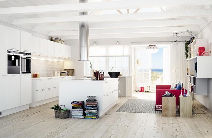 Kjøkken, litt for minimalistisk, men noen ting til inspirasjon.