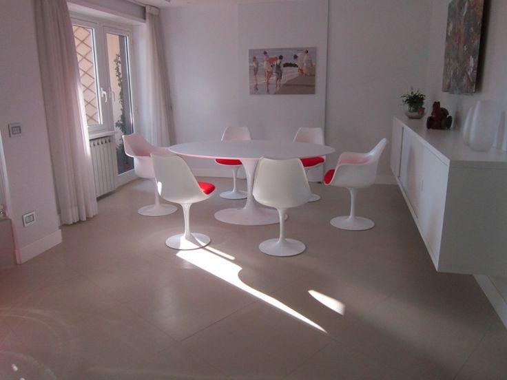 tavolo sedie tulip Saarinen chair table arredamento  furniture  made in Italy  100%