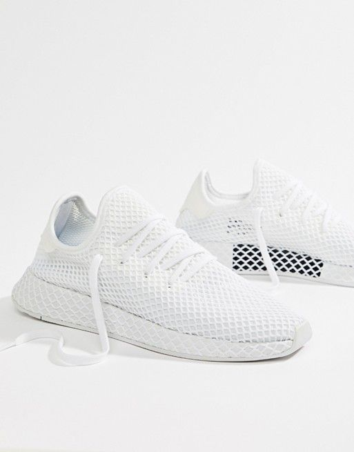 ce0f454ee adidas Originals Deerupt Runner Trainers In White CQ2625