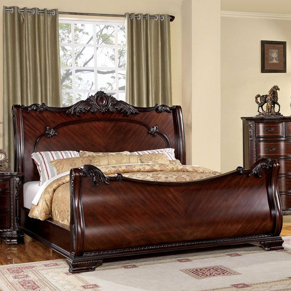Furniture of America Luxury Brown Cherry Baroque Style Sleigh Bed with  Nightstand Bedroom Set - Overstock™ Shopping - Big Discounts on Furniture  of America ... - 10 Best Vintage Furniture Images On Pinterest Vintage Furniture