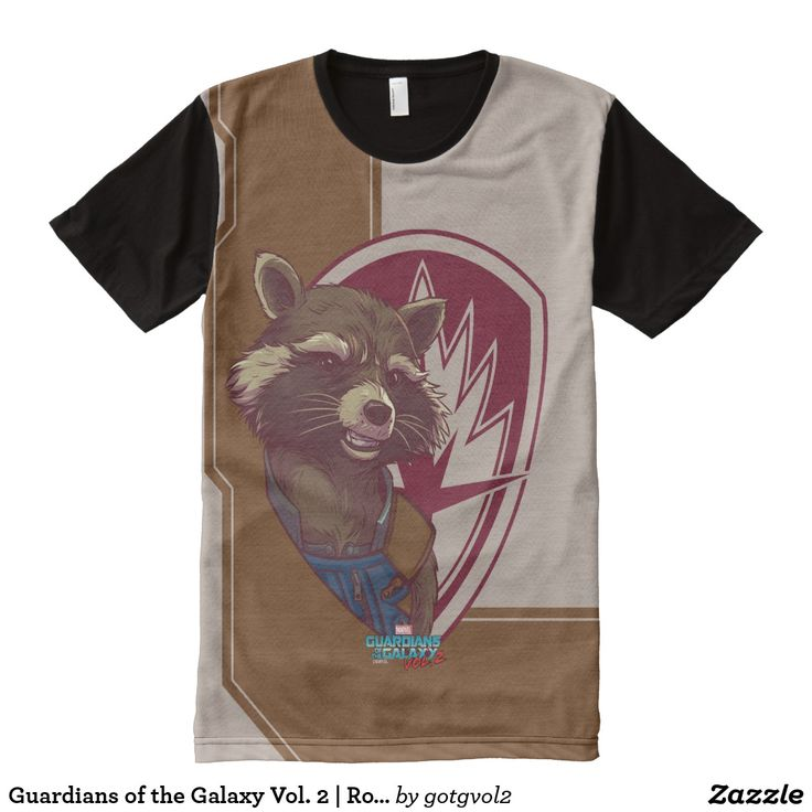 Guardians of the Galaxy Vol. 2 | Rocket Badge All-Over-Print Shirt