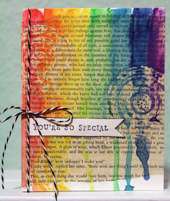 watercolor with clear embossing