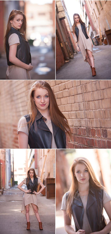 Senior Pictures in Urban Alley, Denver, Photographed by Jennifer Koskinen | Merritt Portrait Studio