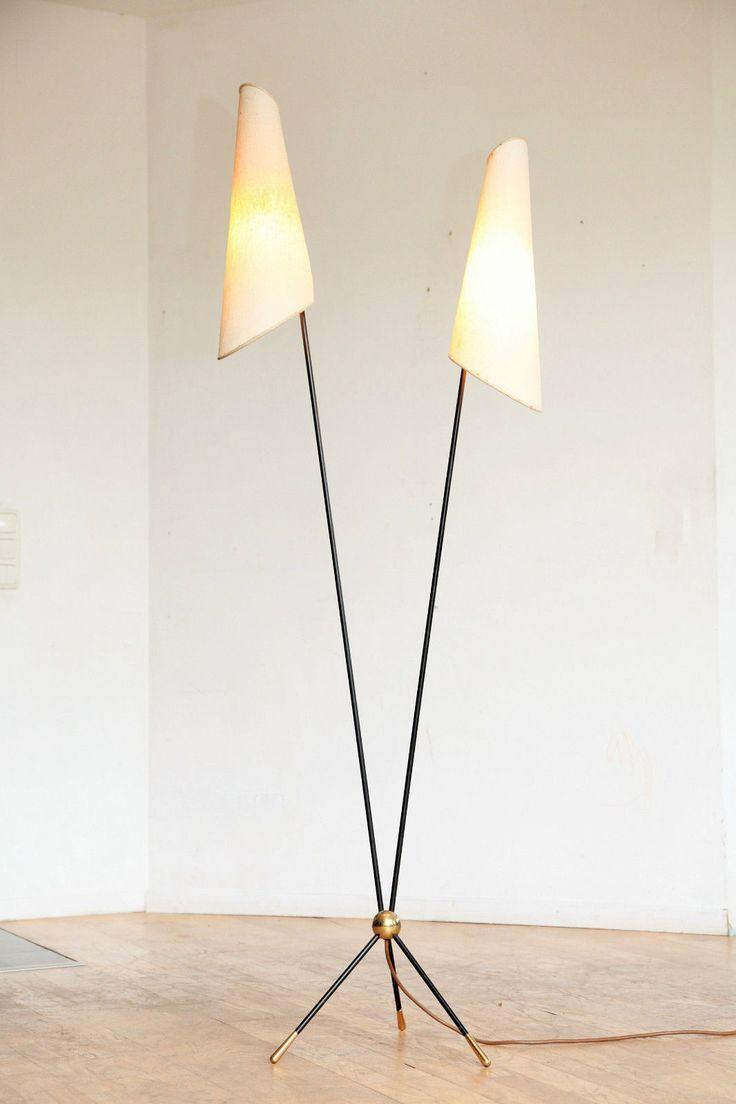 50er 60er tripot stehlampe floor lamp stilnovo ära ebay