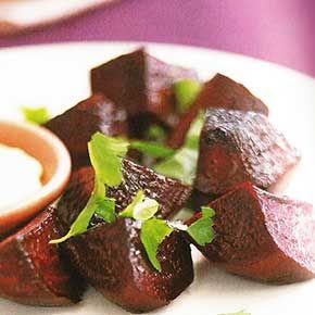 Vegetarisch Recept: Geroosterde bieten met mierikswortelroom