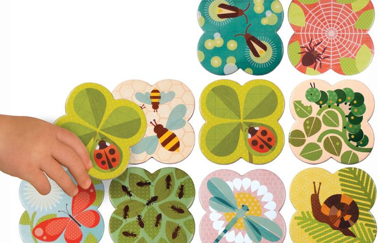 Petit Collage Busy Bugs Memory Game is perfect for preschool-aged children! With bright and beautiful illustrations on large-format pieces – just right for small hands. $32.95AUD Including delivery!