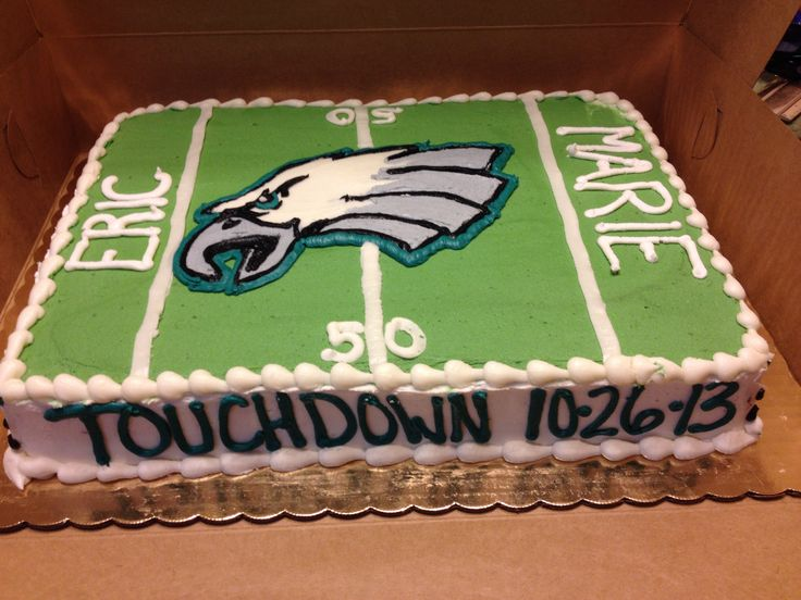 Philadelphia Eagles Groom Cake I Love This Cake Perfect