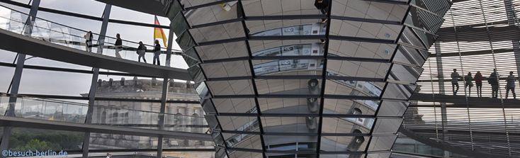 Spiegeltrichter in der Reichstagskuppel Berlin.  http://besuch-berlin.de