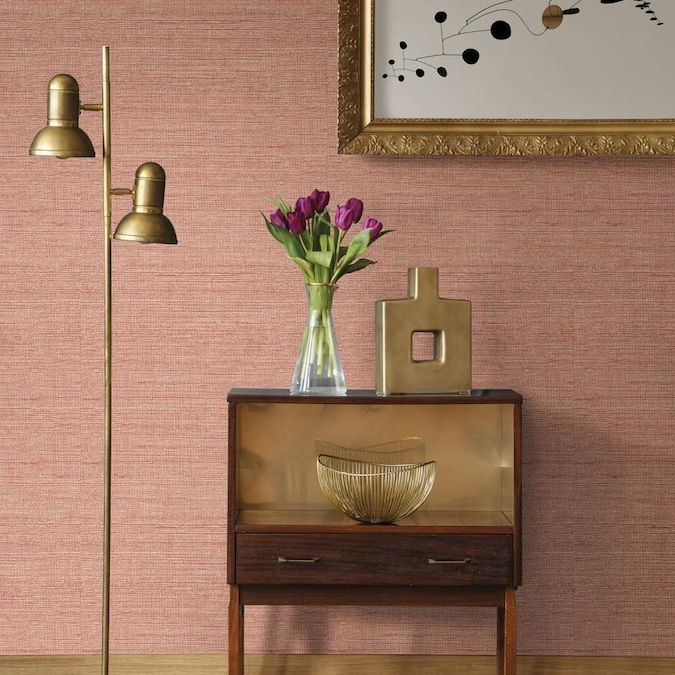 Scott Living 30 75 Sq Ft Spice Vinyl Textured Abstract 3d Self Adhesive Peel And Stick Wallpaper Lowes Com Peel And Stick Wallpaper Hall Wallpaper Home Wallpaper