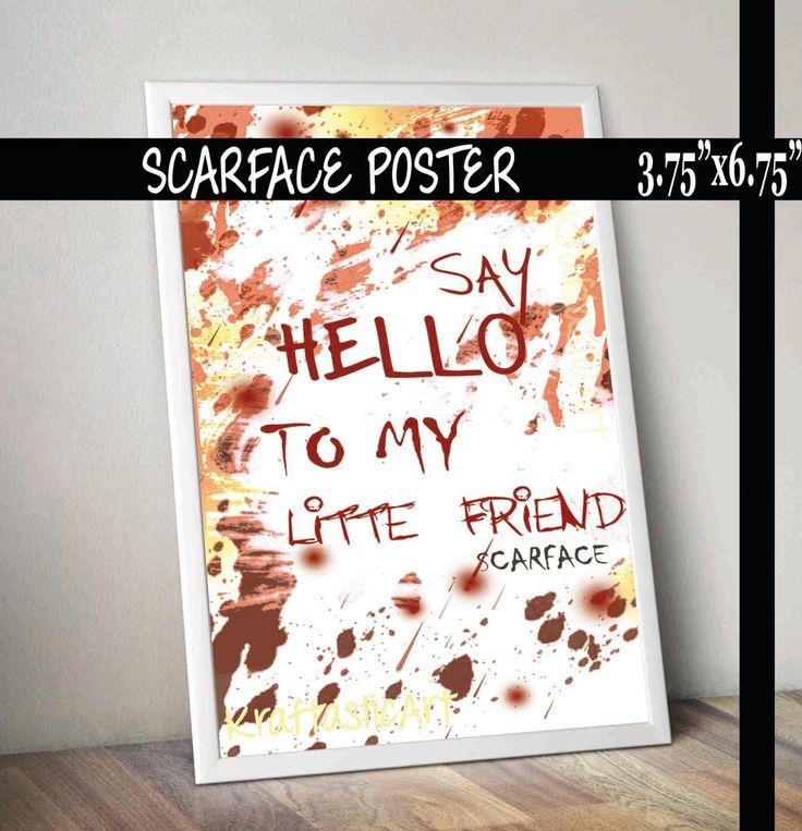 Poster Frase de Película - *Scarface* - Impresión Digital by KraftasticArt on Etsy