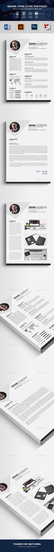 CV Resume #design #icon  • Download here → https://graphicriver.net/item/cv-resume/20538897?ref=pxcr