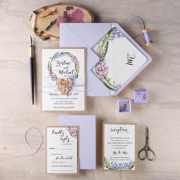 lilac wedding stationery ideas