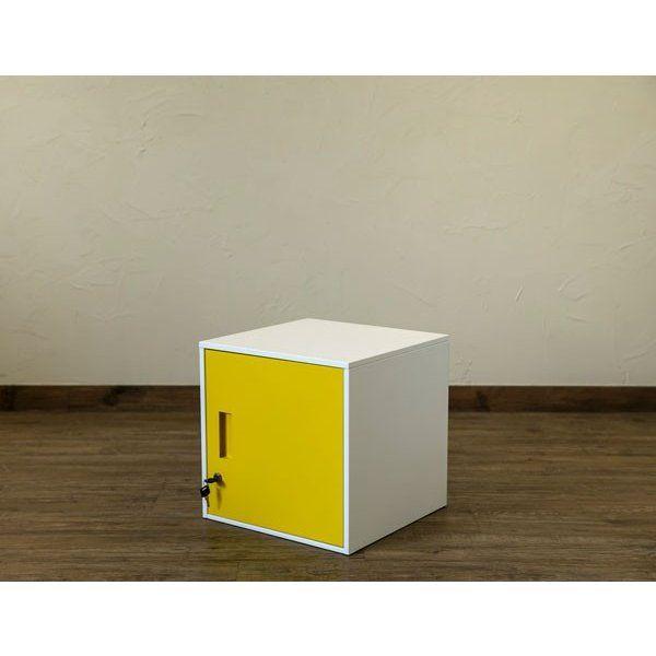 ロッカー カラーボックス 鍵付き キューブbox Jac04 Ns おしゃれ用品