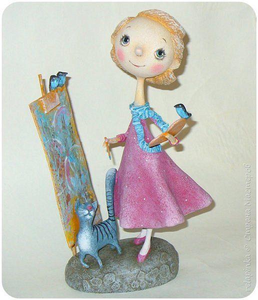 Куклы Папье-маше Художница Бумага фото 1