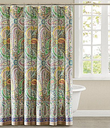 echo scarf paisley shower curtain shower curtains
