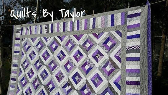 Handmade Quilts for Sale, Made To Order Quilt Link to my Quilt making Blog: quiltsbytaylor.com Link to The MAIN Store front: https://www.etsy.com/shop/QuiltsByTaylorDesign?ref=hdr_shop_menu Link to the Lap Sizng here: https://www.etsy.com/listing/488488939/handmade-patchwork-quilt-gray-quilt?ref=shop_home_active_41 - ~ Made to Order Listing, for King/Queen Sizing Turn around time is about 8 to 12 weeks. ( please refer to FAQ at the b...