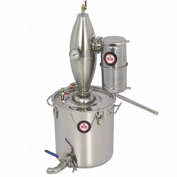 Alcohol Stainless Distiller Home Brew Kit Moonshine Still Wine Making Boiler 25L