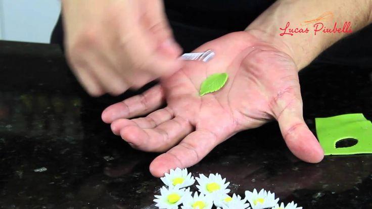 Como Fazer Margaridas, mini folhas e cerejas de Pasta