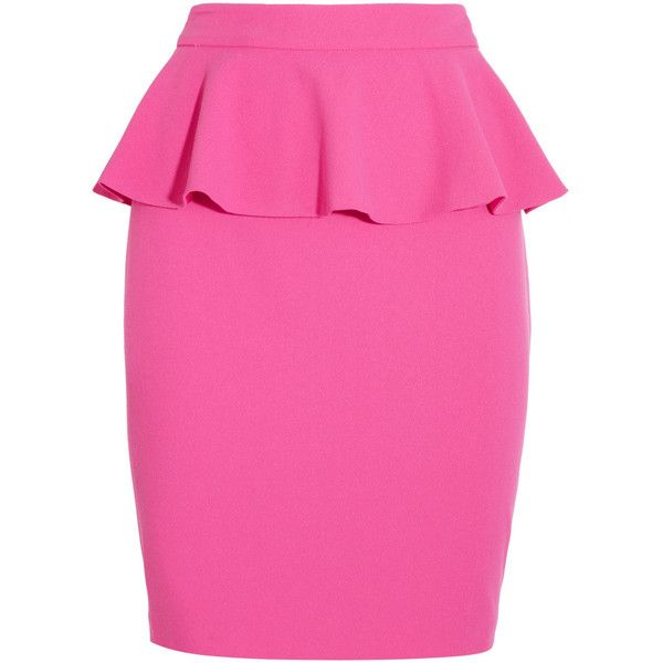 Alice + Olivia Crepe peplum skirt ($155) ❤ liked on Polyvore