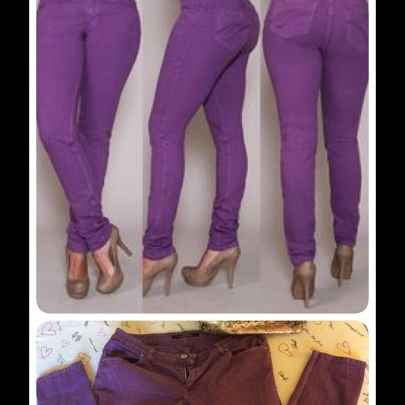 PZI colored skinny jeans LONG! PZI jeans are made specifically for woman with defined waist to buttocks ratio.  (Small tummy and larger buttocks) PZI Jeans Skinny