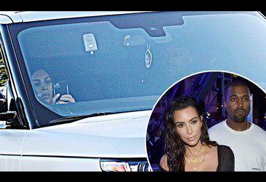 Kim Kardashian and Kanye West spotted on Christmas together